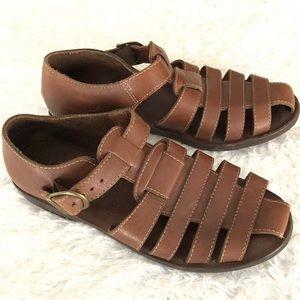L.L. Bean Women's Leather Brown Fisherman Sandals
